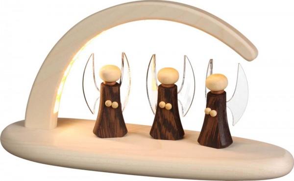 LED Schwibbogen, natur mit Weihnachtsengel von Seiffener Volkskunst eG