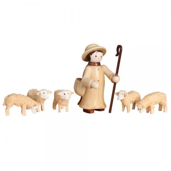 Romy Thiel, Hirte mit 5 Schafen