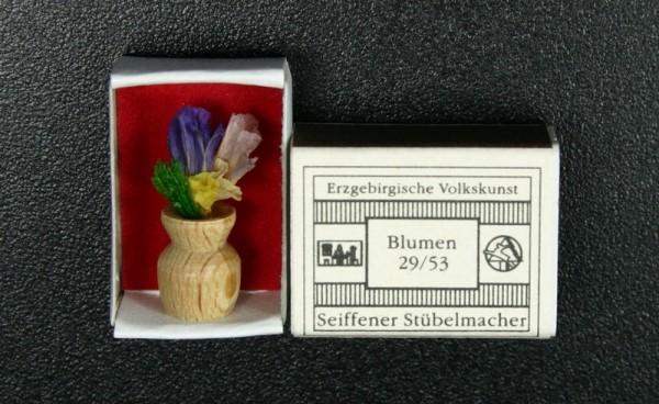 Mini - Zündholzschachtel Blumen, natur von Gunter Flath aus Seiffen / Erzgebirge Detailgetreue Nachbildung von einer Vase mit Blumen. Diese Vase wurde in eine …
