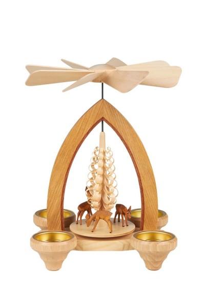 Weihnachtspyramide mit Rehen, 26 cm hergestellt von Heinz Lorenz Olbernhau/ Erzgebirge_Bild1