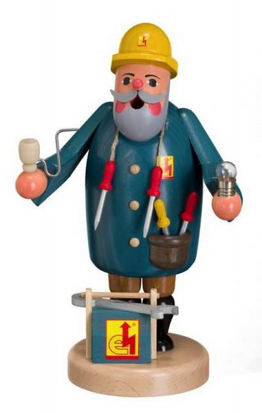 Räuchermännchen Elektriker von Karl Werner Sayda / Erzgebirge Den blauen Arbeitskittel angezogen und die Werkzeugkiste griffbereit. Auf geht es zum ersten …