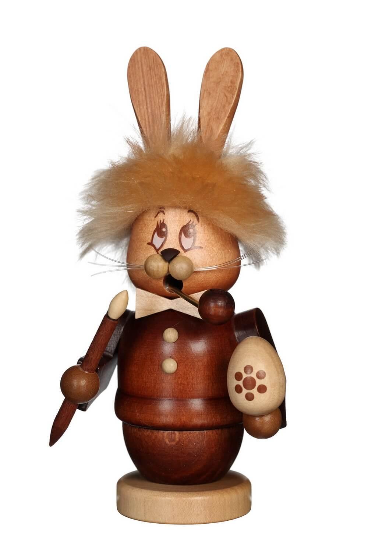 Räuchermännchen Miniwichtel Hase mit dem niedlichen Gesicht von Christian Ulbricht GmbH & Co KG Seiffen/ Erzgebirge ist 17 cm groß. Der Osterhase ist ganz …