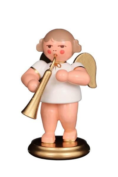 Weihnachtsengel - Musikengel mit russischem Horn, 6 cm von Christian Ulbricht GmbH & Co KG Seiffen/ Erzgebirge