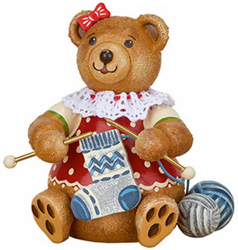 Teddy Strickliesel aus Holz aus der Serie Hubiduu Teddy von Hubrig