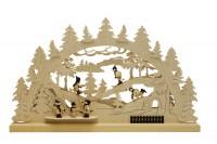 Vorschau: Schwibbogen von Romy Thiel mit dem Motiv Winterlandschaft, 63 cm _Bild2