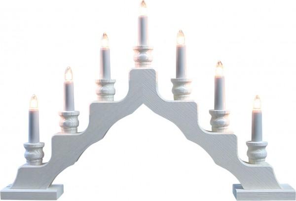 Weigla LED Schwibbogen Trendiger Schwede, weiß, 48 cm