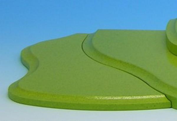 Wiesenstecksystem, Seitenteil für Etage 4 links, grün, 21,0 x 10,0 x 0,8 cm, Frieder & André Uhlig Seiffen/ Erzgebirge