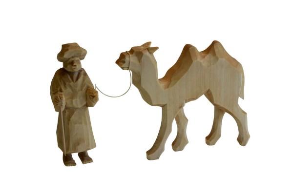 Kameltreiber mit Kamel von Nestler-Seiffen, geschnitzt aus Lindenholz_Bild1