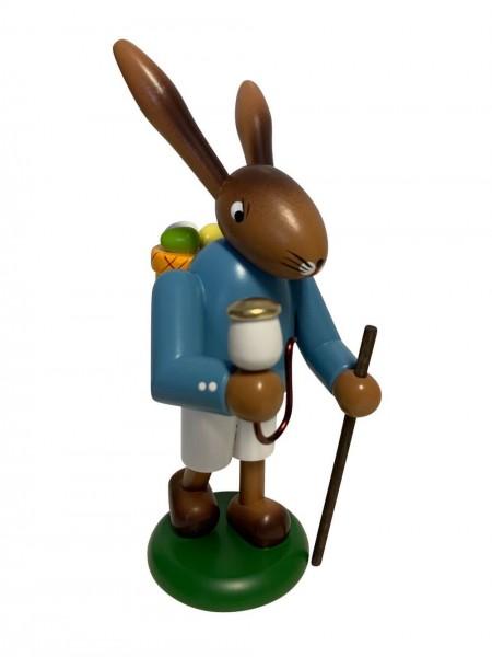 Hase mit Korb und Wanderstab, 18 cm von Nestler-Seiffen _Bild1