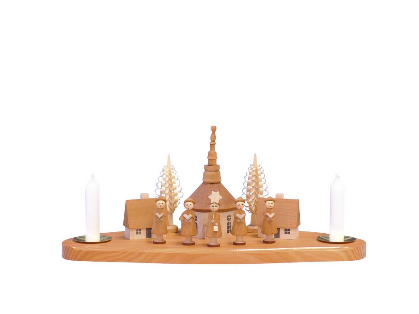Knuth Neuber, Kerzenhalter Seiffener Kirche mit Kurrende, natur_Bild1