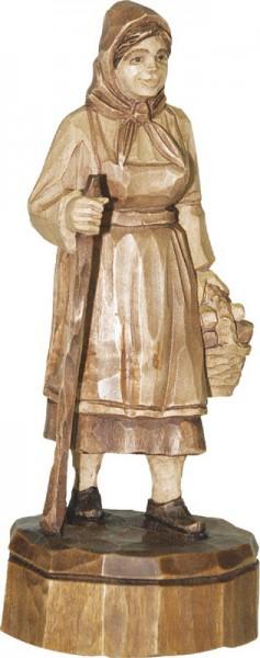 Schwammefrau, gebeizt, geschnitzt, in verschiedenen Größen