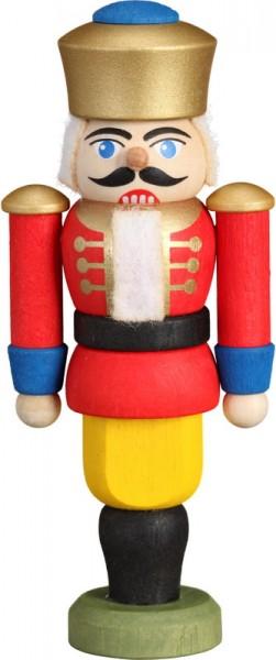 Nussknacker König, rot, 9 cm von Seiffener Volkskunst eG