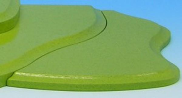 Wiesenstecksystem, Seitenteil für Etage 4 rechts, grün, 21,0 x 10,0 x 0,8 cm, Frieder & André Uhlig Seiffen/ Erzgebirge