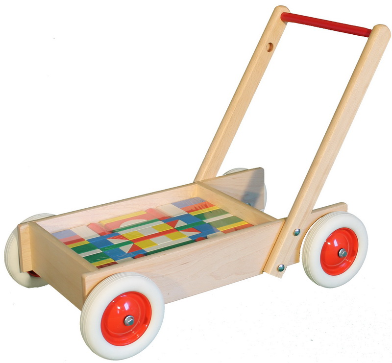 Zwei in Einem: mit diesem tollen Schiebewagen sind kleine Kinderzimmerhelden flott unterwegs! So können sie spielerisch Laufen lernen und …