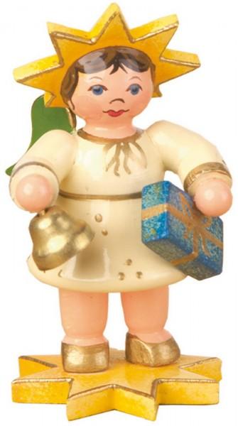 Weihnachtsfigur Sternkind Glockenklang von Hubrig Volkskunst GmbH Zschorlau/ Erzgebirge ist 5 cm groß.