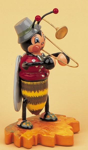 Hubrig Dekofigur Hummel mit Posaune aus Holz