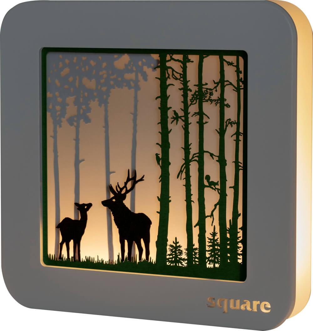 Weigla LED Wandbild Square Wald, 29 cm_Bild1
