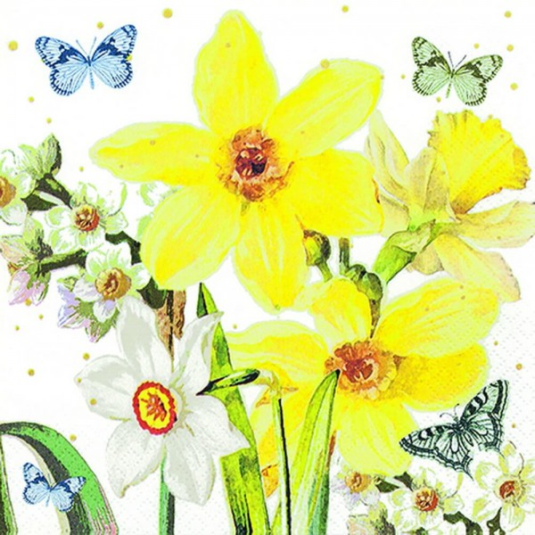Osterservietten Watercolor Narcissus von Home Fashion®