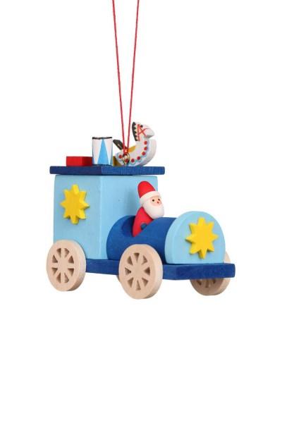 Baumbehang &Christbaumschmuck Weihnachtsmann im Truck, 6 Stück, 7 x 7 cm von Christian Ulbricht GmbH & Co. KG Seiffen/ Erzgebirge