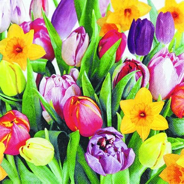 Osterservietten Bouquet of Tulips von Home Fashion®