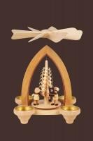 Vorschau: Weihnachtspyramide Bergmannszug für Teelichter, 26 cm hergestellt von Heinz Lorenz Olbernhau/ Erzgebirge_Bild2