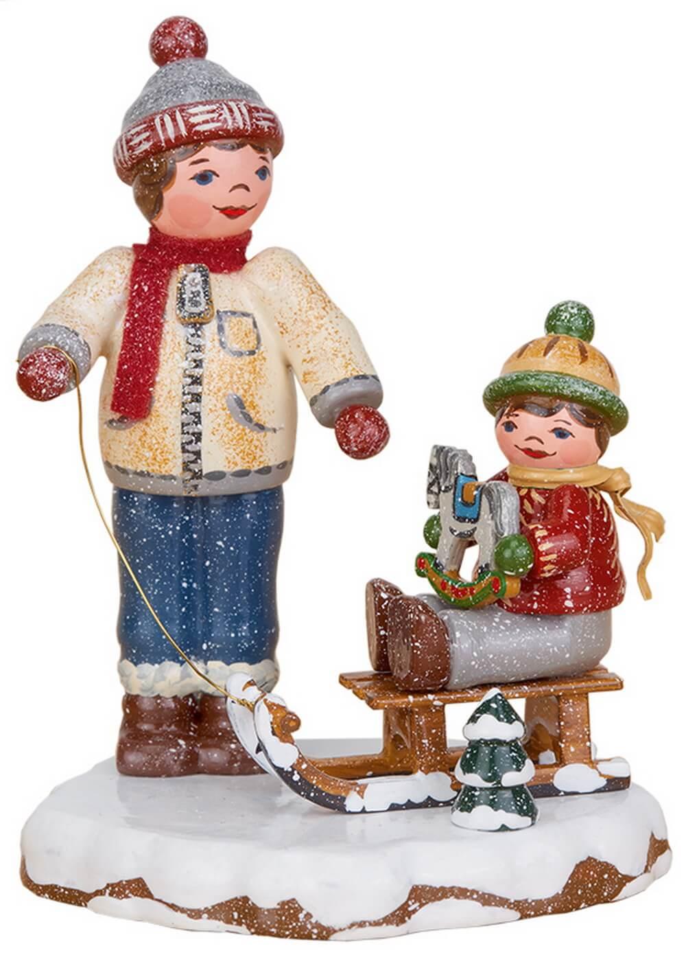 Winterkind von Hubrig Volkskunst Beste Freunde, 8 cm