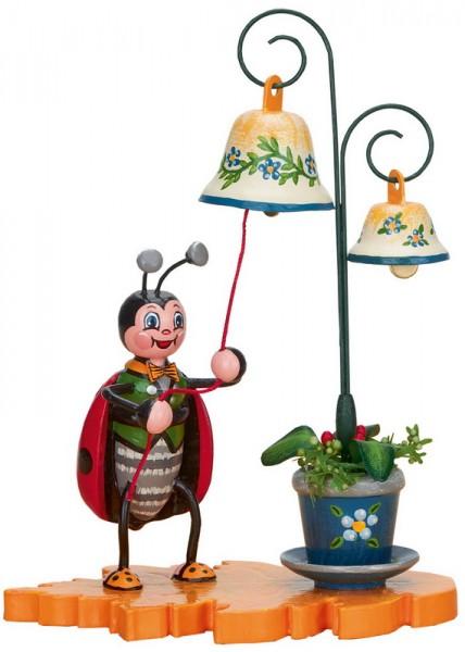 Marienkäfer mit Glockenspiel, 8 cm von Hubrig Volkskunst