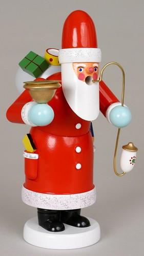 Räuchermann Weihnachtsmann mit Tülle, 18 cm, Jan Stephani Seiffen/ Erzgebirge