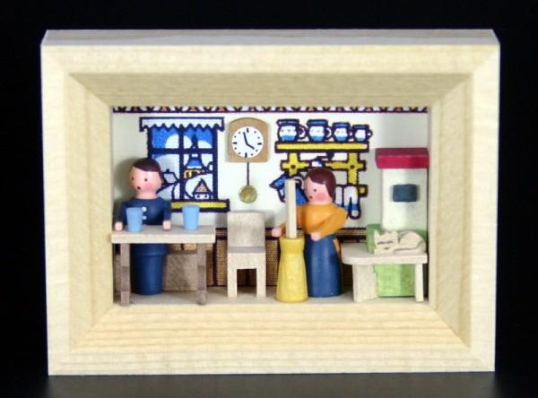 Miniatur im Rähmchen Bauernstube von Gunter Flath aus Seiffen / Erzgebirge Detailgetreue Nachbildung einer Bauernstube aus früheren Zeiten. Diese Bauernstube …