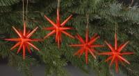 Vorschau: Christbaumschmuck Weihnachtssterne rot, 4-teilig hergestellt von Albin Preißler_Bild2