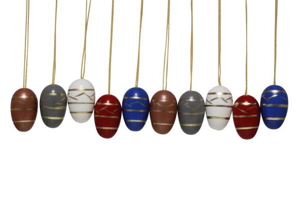Nestler-Seiffen, Ostereier, 10 Stück, farbig_Bild1