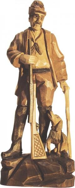 Stülpner Karl mit Hund, gebeizt, geschnitzt, in verschiedenen Größen