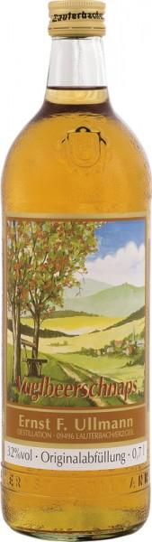Vugelbeerschnaps von Ullmann, 0,7l, 32 % vol., Eine Spirituosenspezialität hergestellt aus dem Saft und Destillat der veredelten Eberesche. Für jeden …