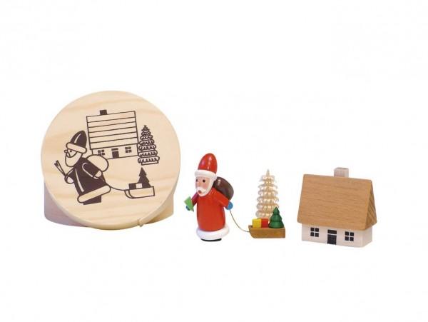 Knuth Neuber, Spanschachtel mit Weihnachtsmann