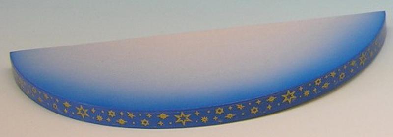 Wolke für Weihnachtsengel 1-stufig, blau, 19 x 8 x 1 cm, Frieder & André Uhlig Seiffen/ Erzgebirge