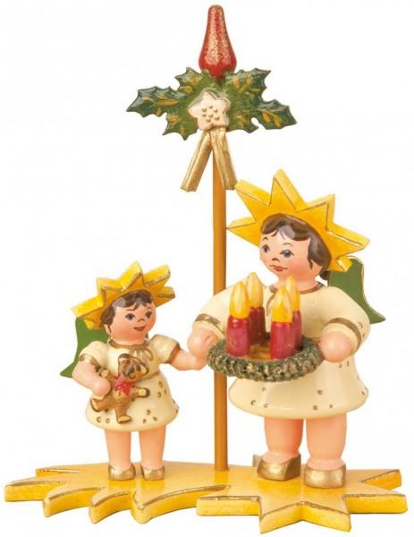 Sternenkinder im Advent von Hubrig Volkskunst GmbH Zschorlau/ Erzgebirge sind 5 cm groß.