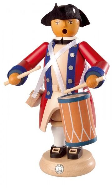 Räuchermann Militär-Trommler Virginia State aus Holz von Müller Kleinkunst aus Seiffen
