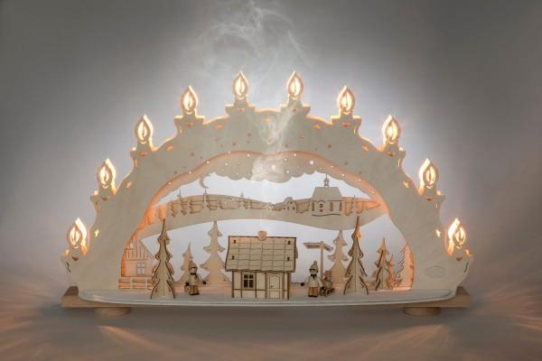 Schwibbogen Winterzauberland, elektrisch beleuchtet, 66 x 39,6 x 11,5 cm von Weigla - Günter Gläser Deutschneudorf/ Erzgebirge Der …