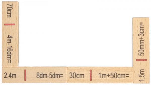 Rechendomino Länge aus Holz, 40 Teile von Ebert GmbH