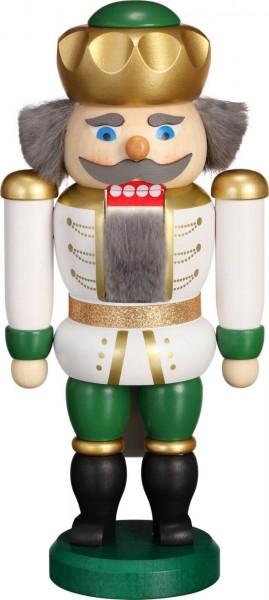 Hier erscheint Ihre Majestät der Nussknacker Exklusiv König in weiss-grün, von der Seiffener Volkskunst eG Seiffen/ Erzgebirge. Dienten früher die Nussknacker …