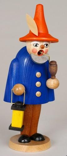 Räuchermann Wichtel, blau, 19 cm, Jan Stephani Seiffen/ Erzgebirge