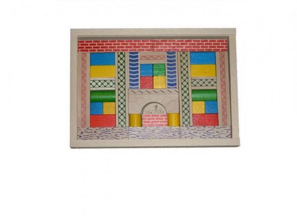 Der Baukasten Junior 3 enthält 35 Bausteine. Mit diesen farblich ganz unterschiedlich gestalteten Bauklötzen lassen richtig tolle Brücken und ähnliche Objekte …
