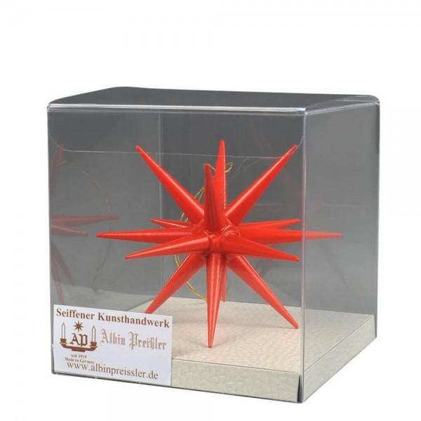 Christbaumschmuck aus Holz, Weihnachtsstern rot, 10 cm hergestellt von Albin Preißler