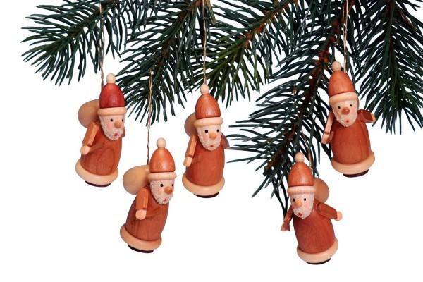 Knuth Neuber, Baumbehang Weihnachtsmann, 5 Stück, natur
