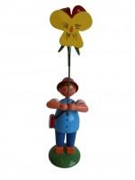 Vorschau: Blumenkind von WEHA-Kunst Junge mit Stiefmütterchen, 12 cm_Bild2