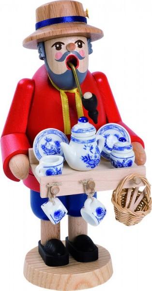 Richard Glässer Räuchermännchen Porzellanhändler, 18 cm