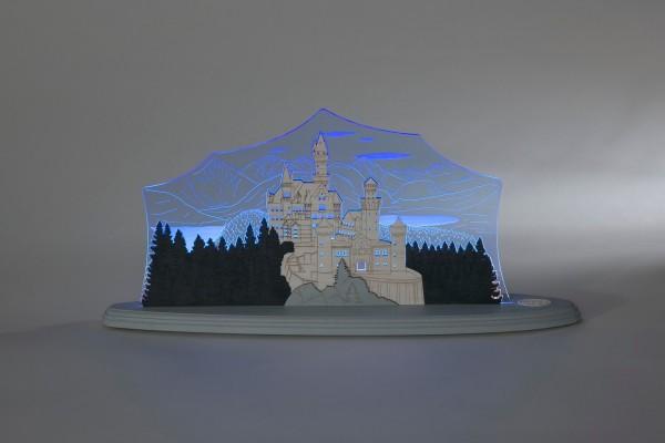 """LED Motivleuchte Schloss Neuschwanstein von Weigla - Günter Gläser Deutschneudorf/ Erzgebirge Die Motivleuchte """"Schloss Neuschwanstein"""" besteht aus bläulich …"""