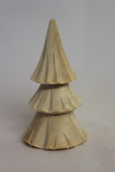 Baum, geschnitzt, natur, 3 - reihig, 5 cm, Romy Thiel Deutschneudorf/ Erzgebirge