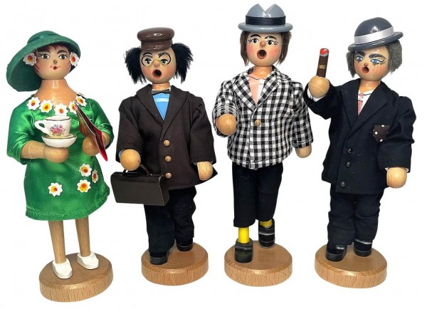 Olsenbande Räuchermännchen Egon, Benny, Kjeld, Yvonne von Armin Braun