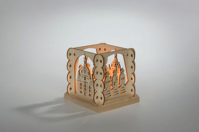 """Teelichthalter Frauenkirche 11,5 x 11,5 x 11,5 cm von Weigla - Günter Gläser Deutschneudorf/ Erzgebirge Die """"Dresdner Frauenkirche"""" ist heute ein """"Symbol der …"""